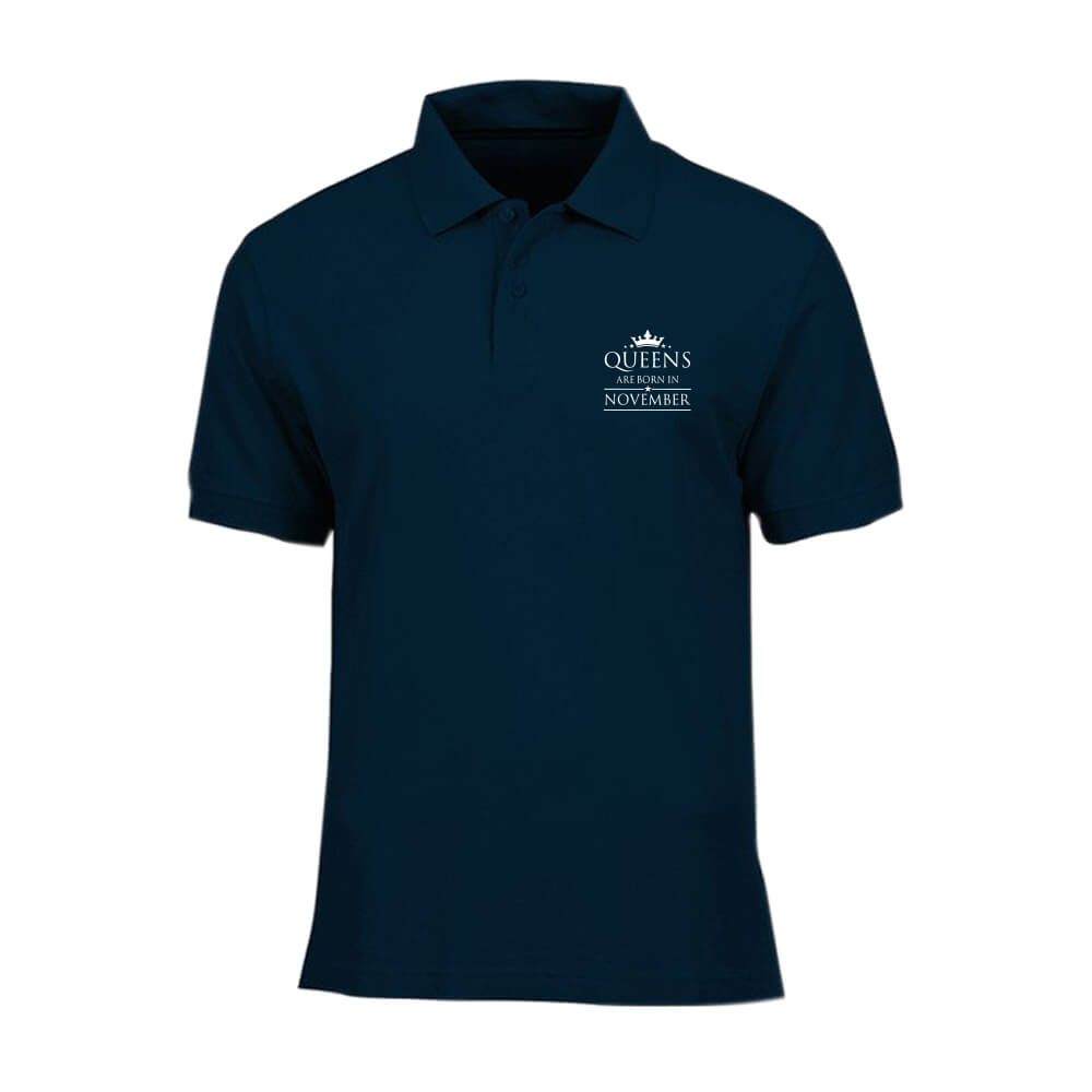 POLO-SHIRT-NAVY-QUUEN-ARE-BORN-IN-NOVEMBER