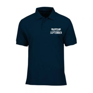 POLO T-SHIRT - NAVY - AYAH TERBAIK LAHIR DIBULAN - SEPTEMBER