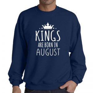 SWEATER - NAVY - KINGS ARE BORN - AUGUST