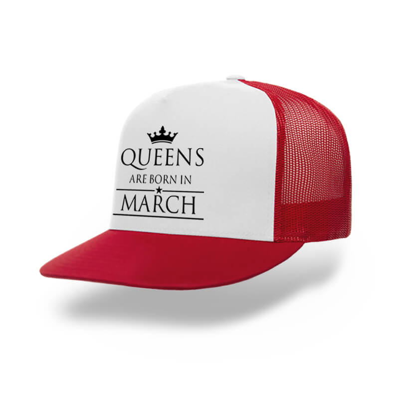 TRUCKER-RED-WHITE-LEGEND-ARE-BORN-IN-MARCH
