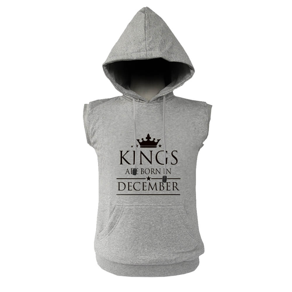 VEST HOODIE - ABU MISTY - KING ARE BORN - DECEMBER