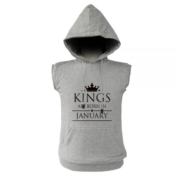 VEST HOODIE - ABU MISTY - KING ARE BORN - JANUARY