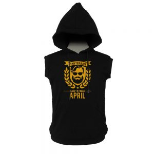 VEST HOODIE - BLACK GOLD - AYAH TERBAIK LAHIR DIBULAN - APRIL