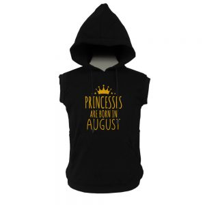 VEST-HOODIE-BLACK-GOLD-PRINCES-ARE-BORN-AUGUST
