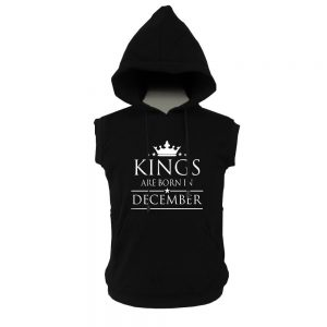 VEST HOODIE - BLACK - KING ARE BORN - DECEMBER