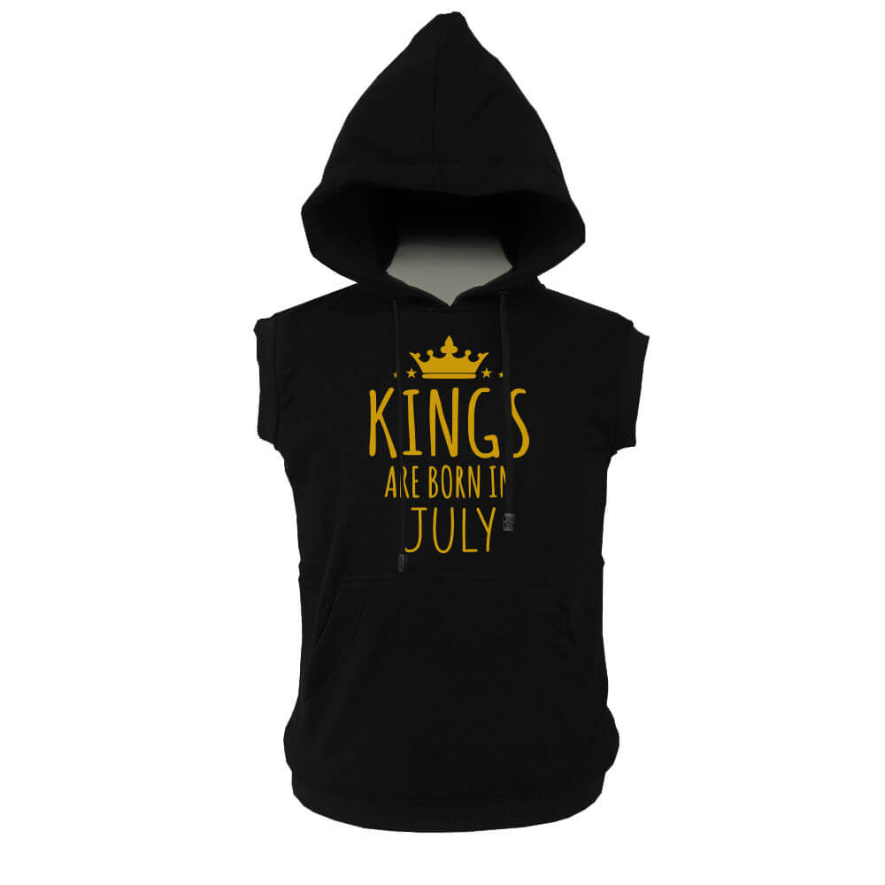 VEST HOODIE - KING ARE BORN - BLACK GOLD - JULY