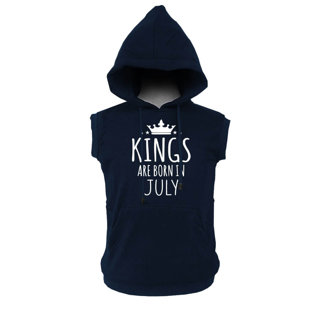 VEST HOODIE - KING ARE BORN - NAVY - JULY