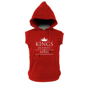 VEST HOODIE - MERAH - KING ARE BORN - APRIL