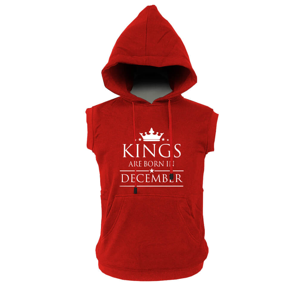 VEST HOODIE - MERAH - KING ARE BORN - DECEMBER