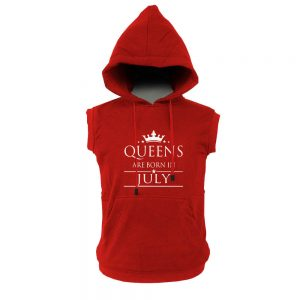 VEST-HOODIE-MERAH-QUEEN-ARE-BORN-JULY