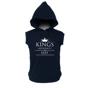 VEST HOODIE - NAVY - KING ARE BORN - MEI