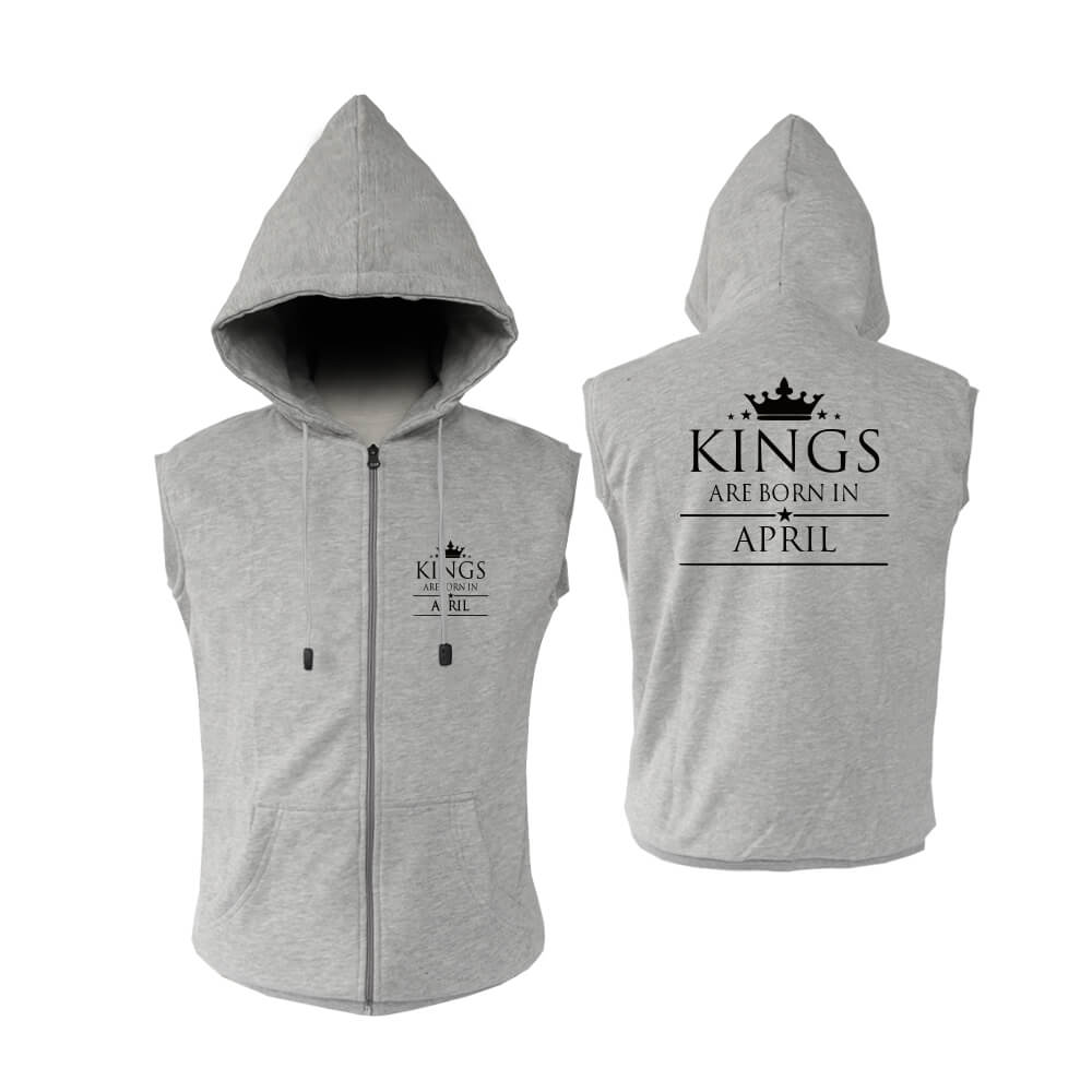ZIPPER HOODIE - ABU MISTY - KING ARE BORN - APRIL