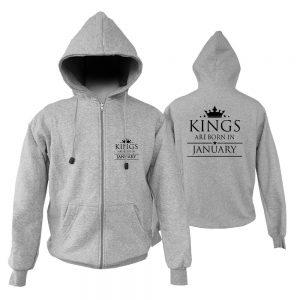 ZIPPER HOODIE - ABU MISTY - KING ARE BORN - JANUARY