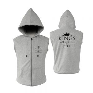 ZIPPER HOODIE - ABU MISTY - KING ARE BORN - JULY
