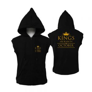 ZIPPER HOODIE - BLACK GOLD - KING ARE BORN - OCTOBER