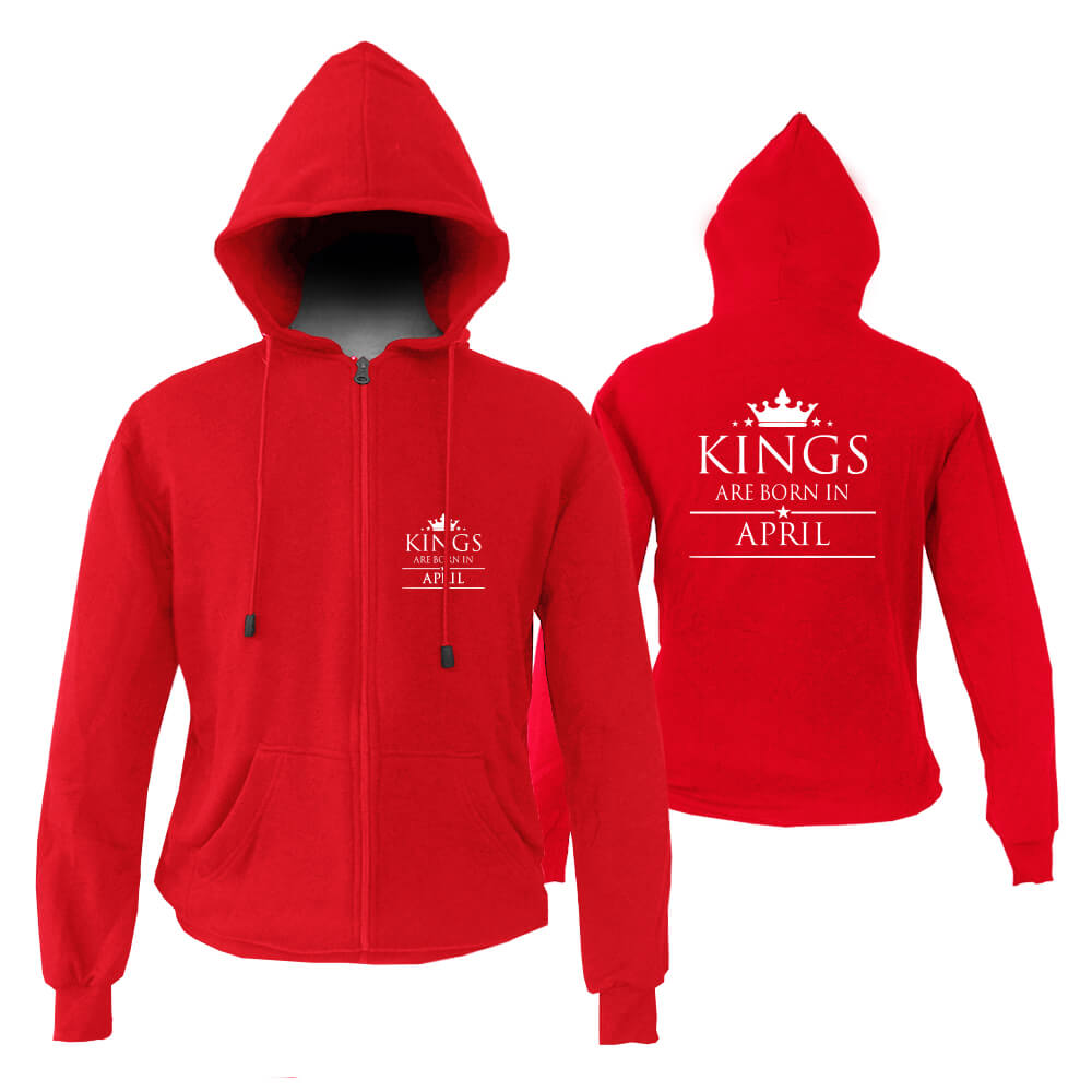 ZIPPER HOODIE - MERAH - KING ARE BORN - APRIL