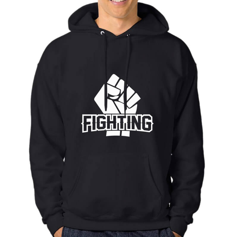 HOODIE-BLACK-FIGHTING