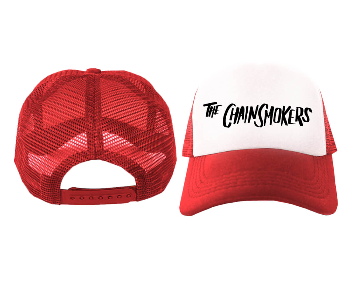 TRUCKER-MERAH--PUTIH-THE-CHAINSMOKERS