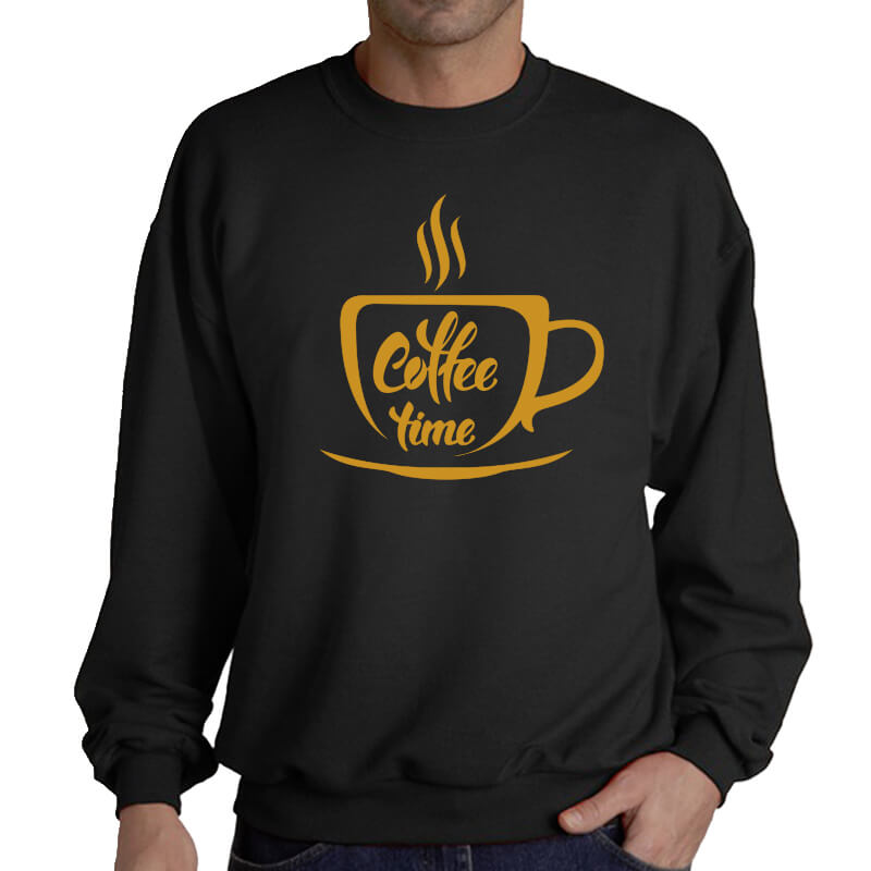 SWEATER-COFFE-TIME-BLACK-GOLD