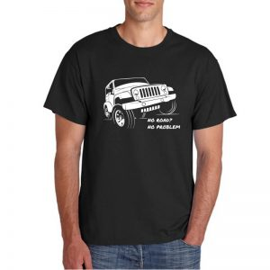 T-SHIRT-BLACK-NO-ROAD-NO-PROBLEM