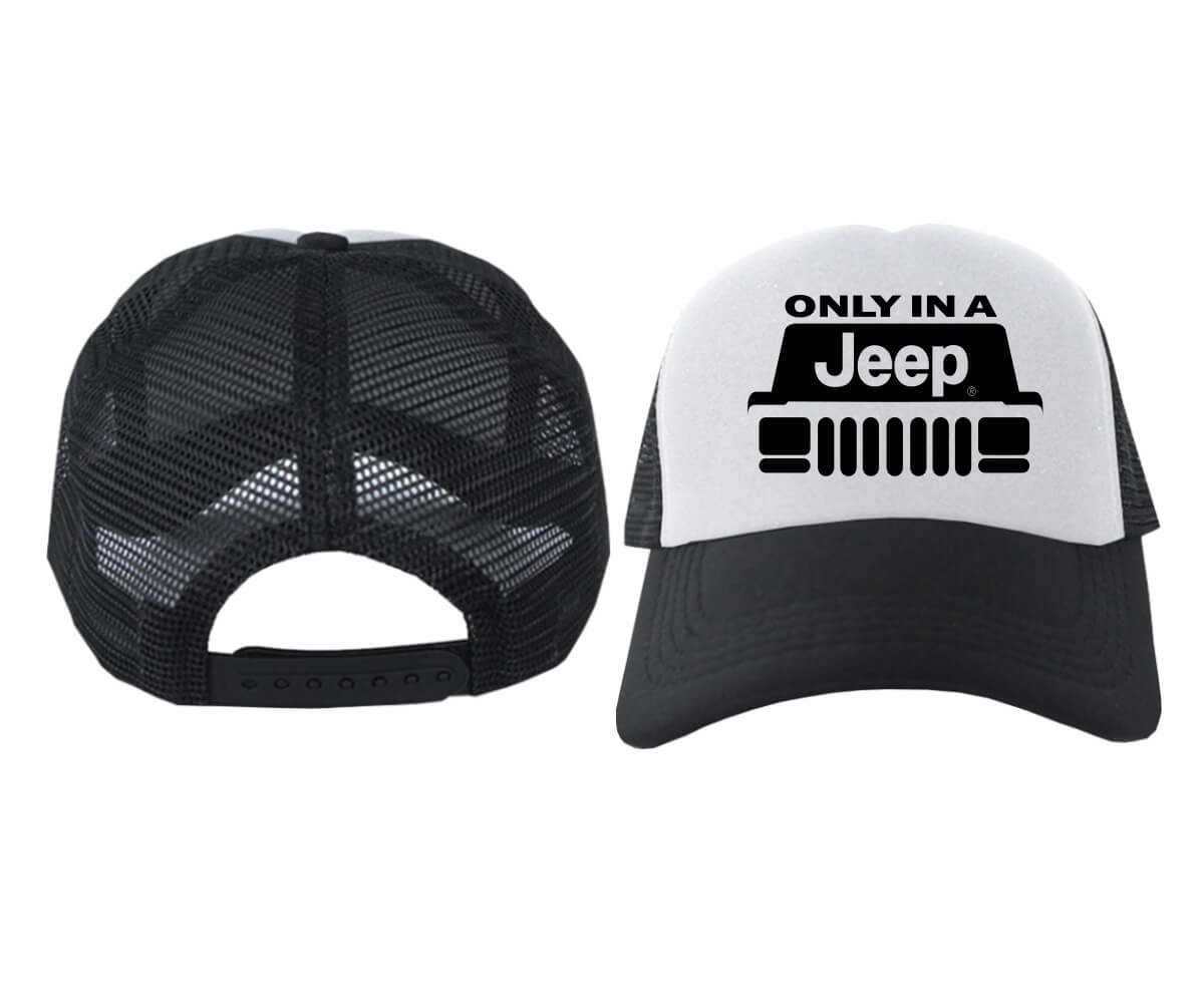 TRUCKER-ONLY-IN-A-JEEP-HITAM-PUTIH