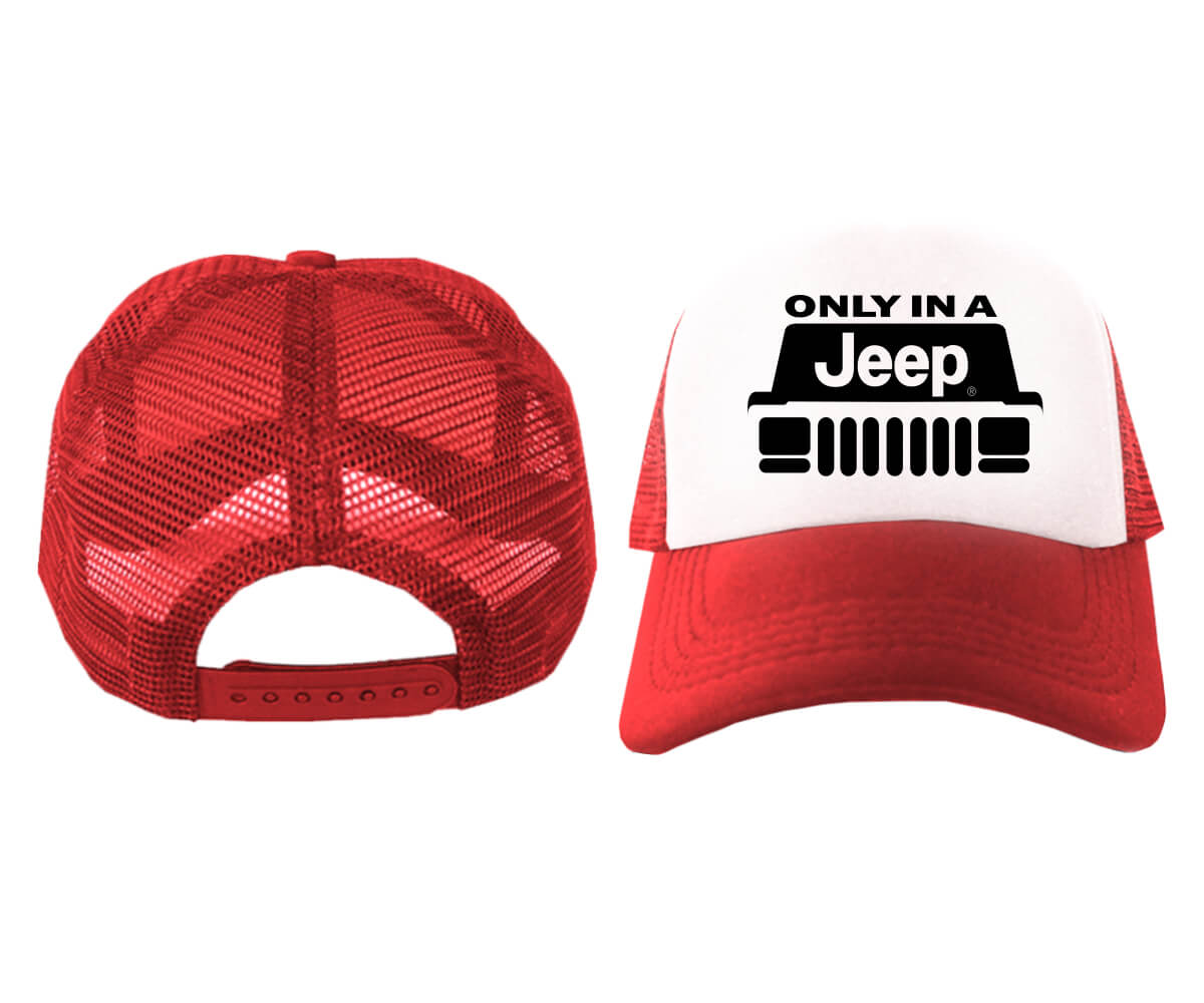 TRUCKER-ONLY-IN-A-JEEP-MERAH-PUTIH