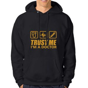 HOODIE-TRUST-ME-I_AM-A-DOCTOR-2-BLACK-GOLLD