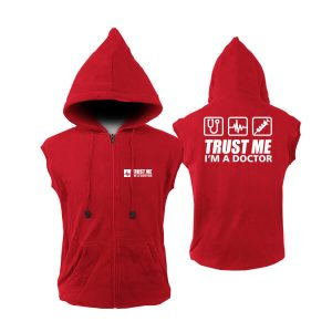 VEST-ZIPPER-TRUST-ME-I_AM-A-DOCTOR-MERAH