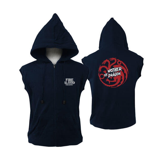 Jual Vest Zipper Hoodie Game Of Thrones Mother Of Dragon