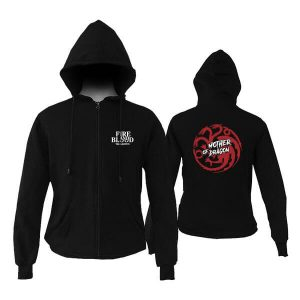 Jual Zipper Hoodie Game Of Thrones Mother Of Dragon