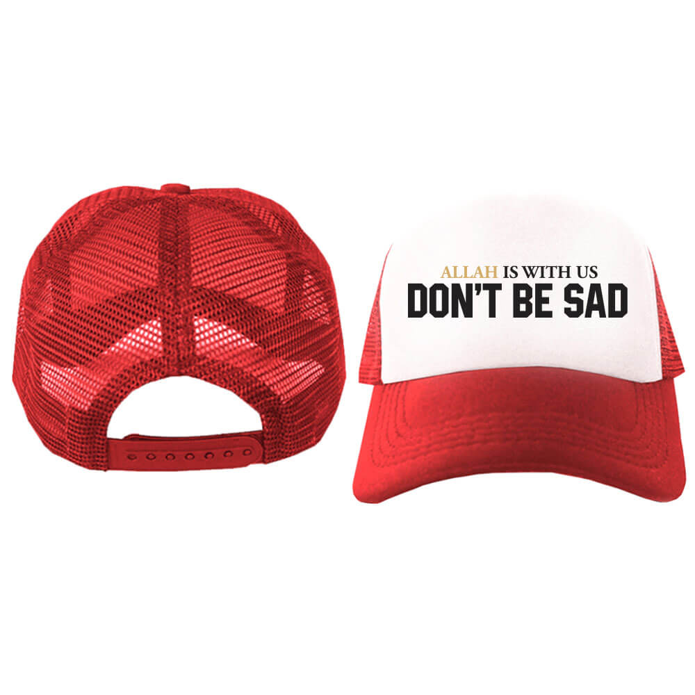 Jual Topi Trucker Allah Is With Us