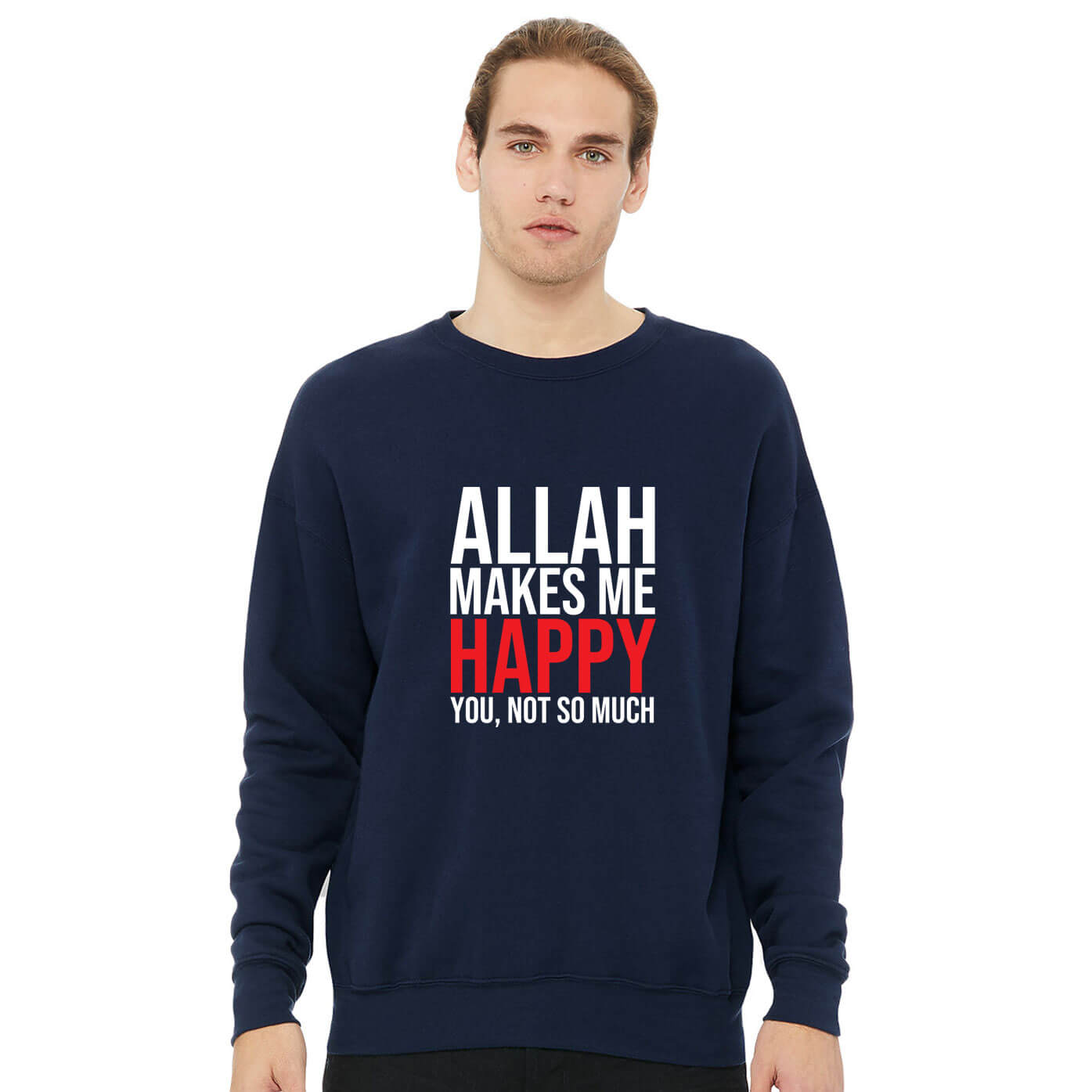 Jual Sweater Allah Makes Me Happy