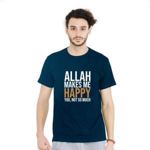 Jual Kaos Allah Makes Me Happy
